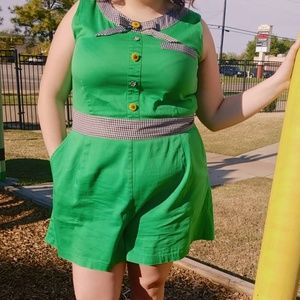 ASOS Curve Other - Green Upcycled Romper